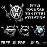 Silver 3D Devil Car Logo Emblem Decal Badge Sticker for VW Volkswagen BMW Toyota