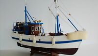 "18"" Crab Boat Wooden Model Lobster Boat Fishing Vessel On Cradle Fully Assembled"