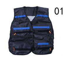 Black Nerf Tactical Vest Jacket Ammo Holder N-Strike Elite Pistol Bullets Toy FO