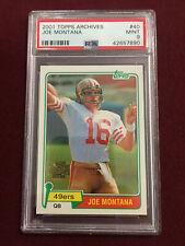 Joe Montana 2001 Topps Archives 1981 Reprint Rookie Card PSA 9 Mint 49ers