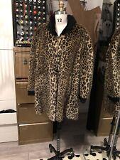 Alexander McQueen Faux fur Leopard Coat 16/oversized