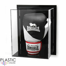 More details for wall mounted boxing glove display case for signed autographed boxing glove riser