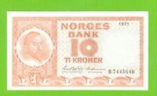 NORWAY - 10 KRONER - 1971 - P-31f  UNC