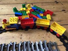 Vintage Lego Duplo Train Track Black Extra Grey Track Bricks