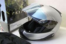 Nuevo Y En Caja BMW System 7 Carbono Crash Casco de plata con sistema de doble Visera Tamaño 58/59