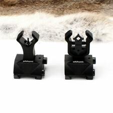 ohhunt Tactical Flip Up Front Rear Sight Sights Set Iron Diamond Apertures Black