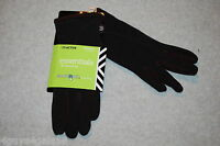 Womens Gloves ISOTONER ESSENTIALS SmarTouch ACTIVE One Size BLACK Touchscreen