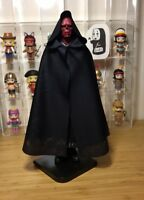 "1:6 Black Handmade Old effect CLoak Hooded Cape For 12"" PH HT Female Male Body"