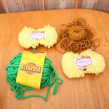 Lot of Vintage Macrame Cord Yellow Green Brown