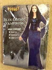 SPIRIT WOMANS BLUE GOTHIC VAMPIRESS ADULT MEDIUM 8-10 COSTUME FREE SHIPPING