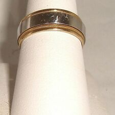 sz 10.5 SOLID 18K YELLOW 9 gram GOLD PLATINUM 7mm RING CAMELOT WEDDING BAND MENS