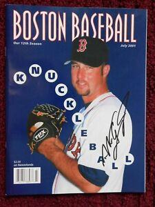 "NOMAR GARCIAPARRA signed ""BOSTON BASEBALL"" MAG JULY 2001 + LITTLE LEAGUE INSERT"