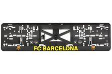 FC Barcelona 2xECHTE 3D-Effekt Kennzeichenhalter, Nummernschildhalter