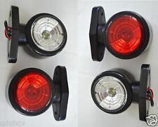 4x Rosso Bianco 24V Luci Di Posizione LED Laterali luci per Camion Rimorchio Bus