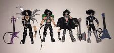 1997 McFarlane Toys KISS 4 Action Figures Loose LOT Near Complete Custom Fodder