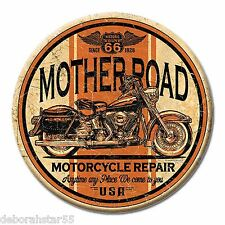 """Route 66 Mother Road Motorcycle Garage Tool Box Mini Metal Tin Sign MAGNET 3"""""""