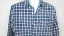 Abercrombie & Fitch Blue red plaid button down shirt Medium Men's heavy cotton