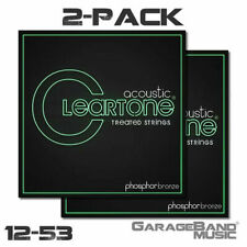 Cleartone 7412 EMP Phosphor Bronze Coated Acoustic Guitar Strings, 12-53, 2 Pack