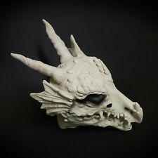 Over the Head White Bone Dragon Skull Costume Moving Mouth Masquerade Mask