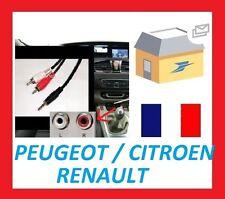 Cable auxiliaire RCA jack mp3 autoradio renault citroen peugeot