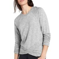Athleta Criss Cross Sweater Heather Gray Athletic Casual Loungewear Plus Size 1X