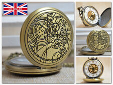 Doctor Who Dr Who Hunter Necklackle Pocket Watch Tardis Phone Box *UK Stock