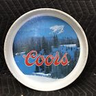Vintage 1982 Coors Beer Tin Serving Bar Tray Brewed Rocky Mountain Spring Water