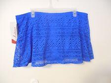 f1b4b3e58e2b2 Womens Size 2x 18w-20w Royal Blue Lace Swim Skirt Catalina Bikini Bottom
