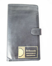 Leather Travel Wallet for Passport Money and Cards Black