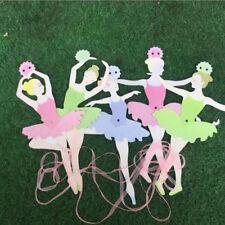 Pretty Ballet Girls Paper Flags Banner Decor Kids Birthday Party Supply CB