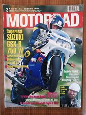 Motorrad Zeitschrift Ausgabe 2 vom 08.01.1994 - Supertest Suzuki GSX-R 750 W