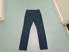 "M&Co Slim Leg Jeans Size 10 Leg 32"" Faded Dark Green Ladies Jeans"