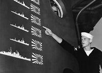 "Japanese Trophy Flags Battle of Cape Esperance 5""x 7"" World War II WW2 Photo 566"