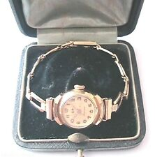 LIP FRENCH 1920s WOMAN WRISTWATCH - GOLD PLATED -MADE IN FRANCE- WORKS PERFECTLY
