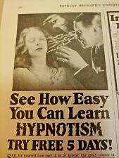 July 1930 Magazine Page #A246- You Can Learn Hypnotism- Try Free 5 Days!