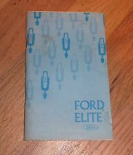 1975 FORD ELITE OWNER'S MANUAL