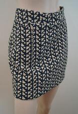 HOSS INTROPIA Grey & Cream Geometric Print Short Mini Skirt Sz:36; UK8 BNWT