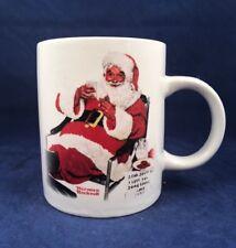 Norman Rockwell Cookies and Milk For Santa Ceramic Christmas Mug Dick & Jane