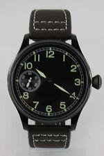 Parnis reloj hombre funcionan Seagull obra st3600 PVD Laco pilotenuhr nuevo