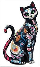 Sugar Skull Cat replica fridge magnet - new!