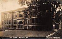 Rockville Indiana~High School Close Up~Bregstone's PTV no 3~Publisher~1930s RPPC