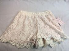 NWT Free People lace Ivory Embroidered Scalloped Hem Shorts Sz S