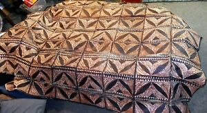Vintage LARGE Polynesian Tapa Bark Cloth Pacific Islands Oceania