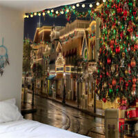 Christmas Tapestry Wall Hanging 3D Printing Tapestry Beach Throw Blanket A