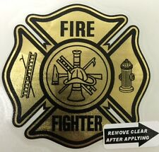 "Gold Vinyl Decal, Firefighter, 2.75""wide   #FD101"
