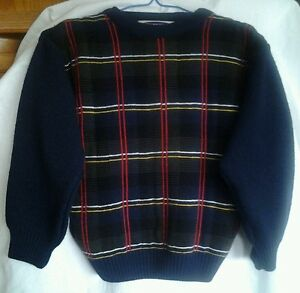 PLAID TODDLER SWEATER, size 7