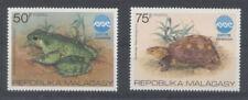 ANIMAUX DIVERS Madagascar 2 val de 1975 seules TORTUE et GRENOUILLE de la série