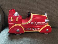 Fire Truck Cookie Jar Red Corning Factory Store No. 9 Hook & Ladder RARE