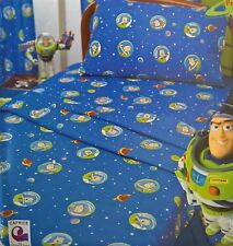 ~ Toy Story - BUZZ LIGHTYEAR SINGLE BED FITTED & FLAT SHEET SET Twin Disney