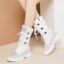European New Trendy Women's Snow Boots Winter Thicken Warm Faux Wool Lined Boots